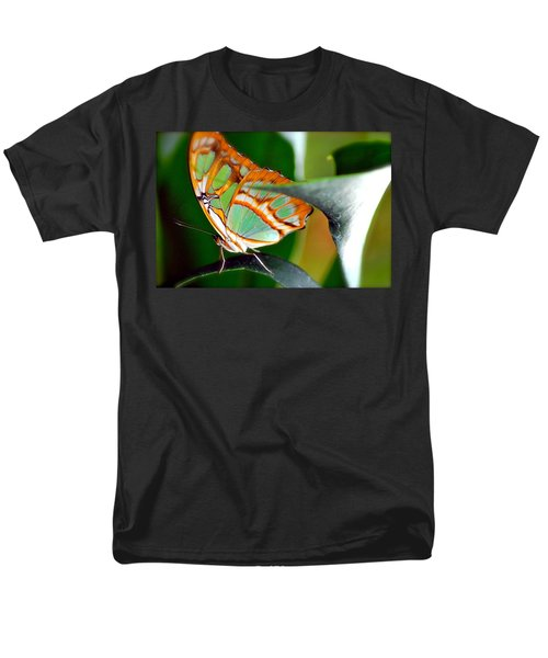 Men's T-Shirt  (Regular Fit) featuring the photograph Dido Longwing Butterfly by Peggy Franz