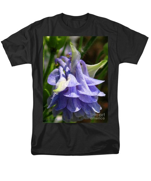 Men's T-Shirt  (Regular Fit) featuring the photograph Double Columbine Named Light Blue by J McCombie