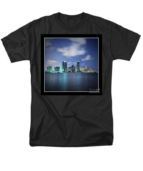 Downtown Miami At Night Men's T-Shirt  (Regular Fit) by Carsten Reisinger