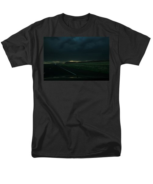 Men's T-Shirt  (Regular Fit) featuring the photograph Driving Rain Number One by Lon Casler Bixby