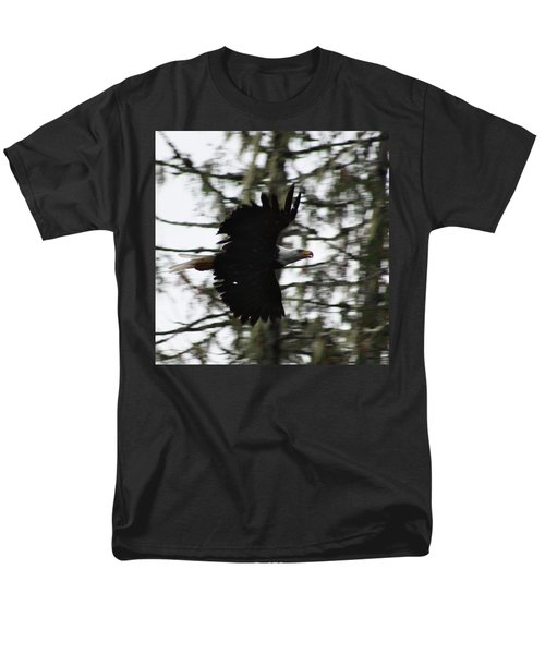 Men's T-Shirt  (Regular Fit) featuring the photograph Eagle Fly By by Cathie Douglas