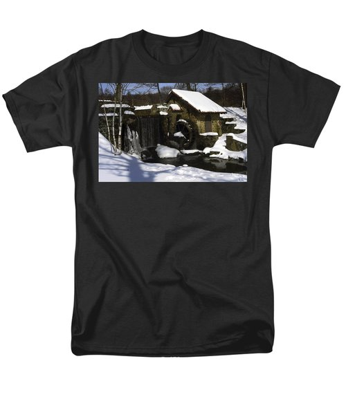 Eastern University Waterwheel Historic Place Men's T-Shirt  (Regular Fit) by Sally Weigand