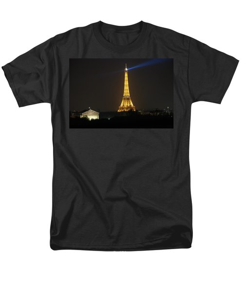 Men's T-Shirt  (Regular Fit) featuring the photograph Eiffel Tower At Night by Jennifer Ancker