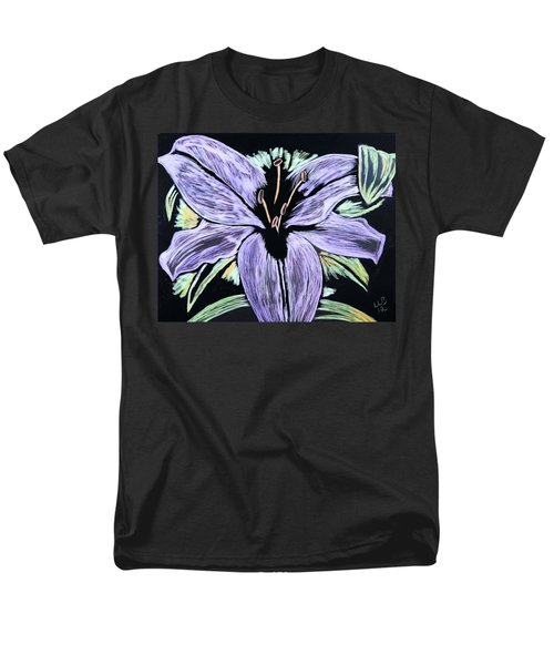 Men's T-Shirt  (Regular Fit) featuring the drawing Electric Lily Phase Two by Lisa Brandel