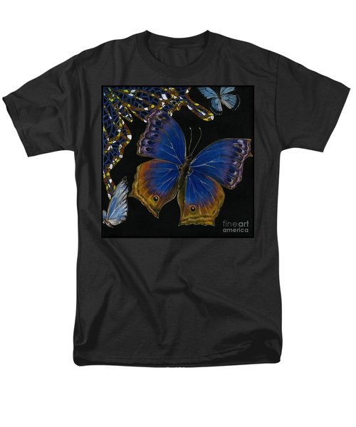 Elena Yakubovich - Butterfly 2x2 Lower Right Corner Men's T-Shirt  (Regular Fit) by Elena Yakubovich