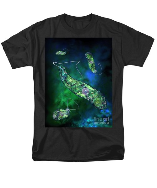 Men's T-Shirt  (Regular Fit) featuring the digital art Euglena Blue by Russell Kightley