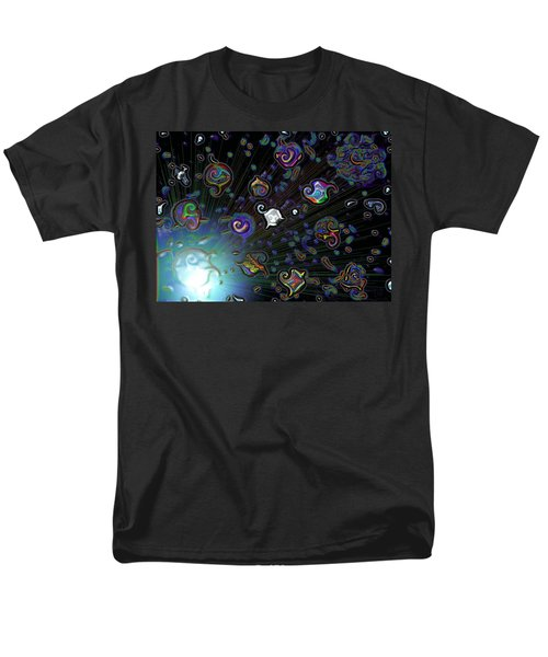 Men's T-Shirt  (Regular Fit) featuring the digital art Exploding Star by Alec Drake