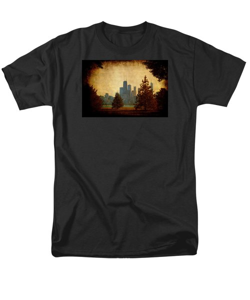 Men's T-Shirt  (Regular Fit) featuring the photograph Fall In The City by Milena Ilieva