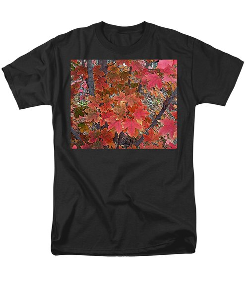 Fall Red Men's T-Shirt  (Regular Fit) by David Pantuso
