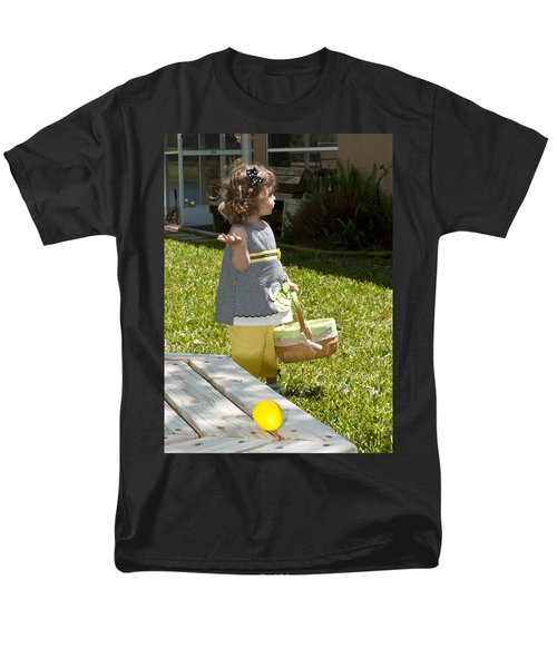 Men's T-Shirt  (Regular Fit) featuring the photograph First Easter Egg Hunt by Steven Sparks