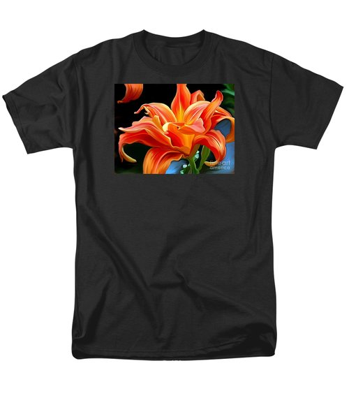 Flaming Flower Men's T-Shirt  (Regular Fit) by Patricia Griffin Brett