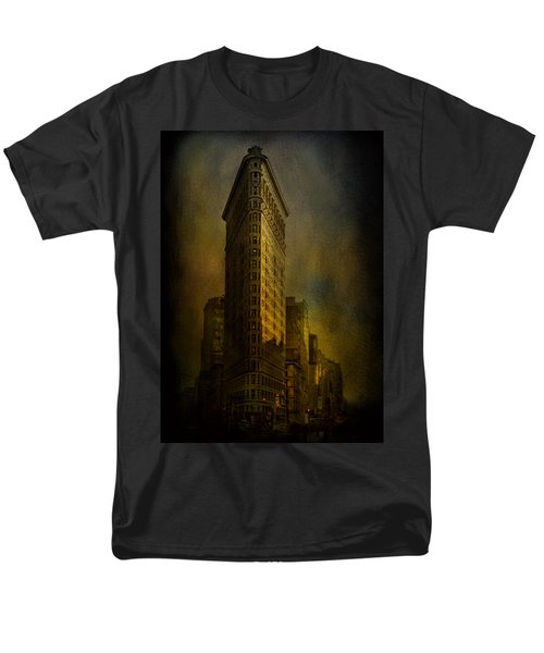 Flatiron Building...my View..revised Men's T-Shirt  (Regular Fit) by Jeff Burgess