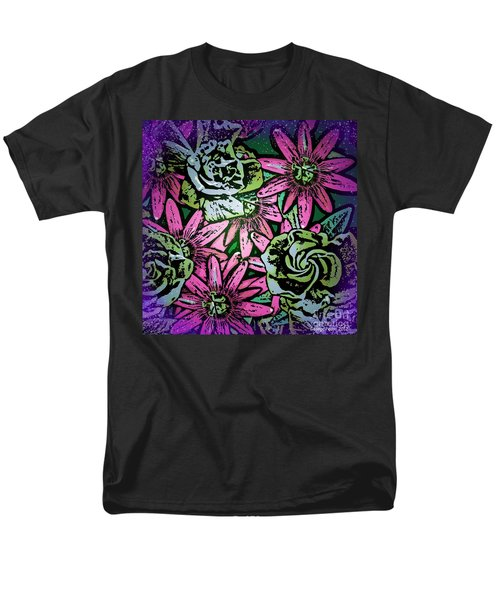 Men's T-Shirt  (Regular Fit) featuring the digital art Floral Explosion by George Pedro
