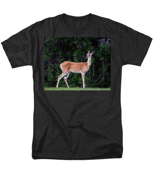 Men's T-Shirt  (Regular Fit) featuring the photograph Flower Deer by Steve McKinzie