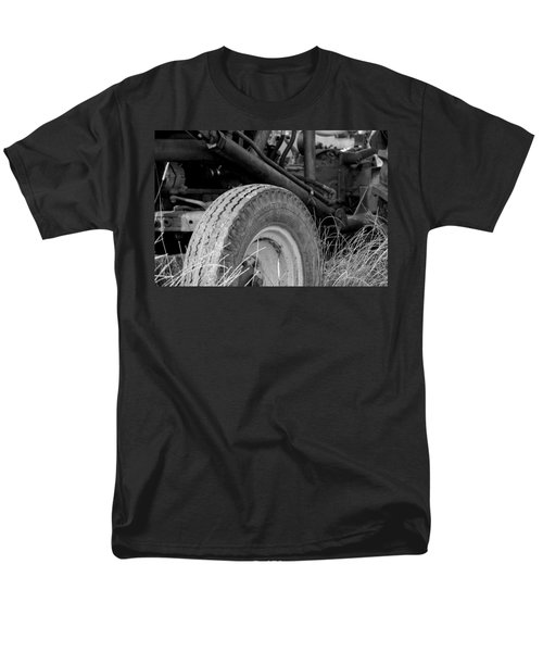 Men's T-Shirt  (Regular Fit) featuring the photograph Ford Tractor Details In Black And White by Jennifer Ancker