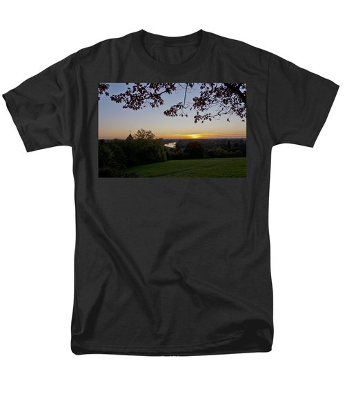 Men's T-Shirt  (Regular Fit) featuring the photograph Framed Sunset by Maj Seda