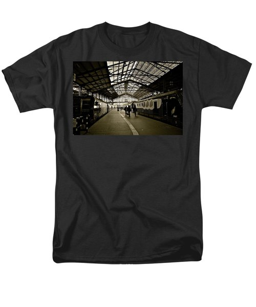 Men's T-Shirt  (Regular Fit) featuring the photograph Gare De Saint Lazare by Eric Tressler