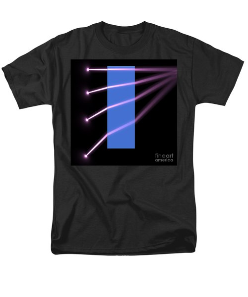 Men's T-Shirt  (Regular Fit) featuring the digital art Glass Block 2 by Russell Kightley