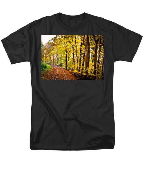 Men's T-Shirt  (Regular Fit) featuring the photograph Golden Rails by Sara Frank