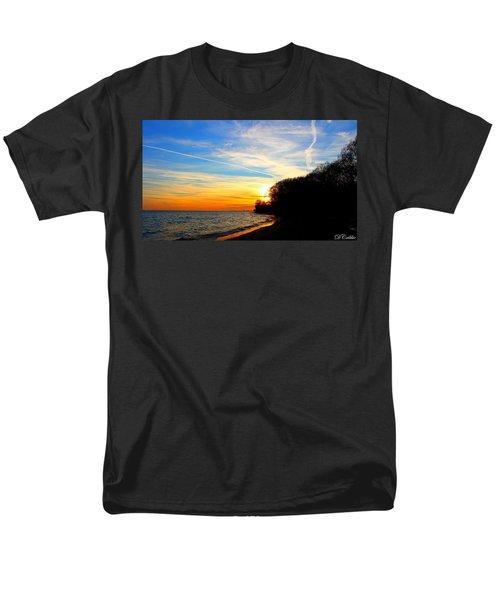 Men's T-Shirt  (Regular Fit) featuring the photograph Golden Sunset by Davandra Cribbie