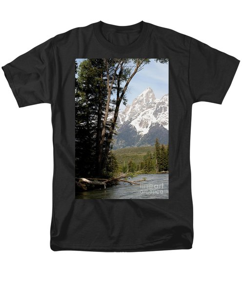 Men's T-Shirt  (Regular Fit) featuring the photograph Grand Tetons Vertical by Living Color Photography Lorraine Lynch