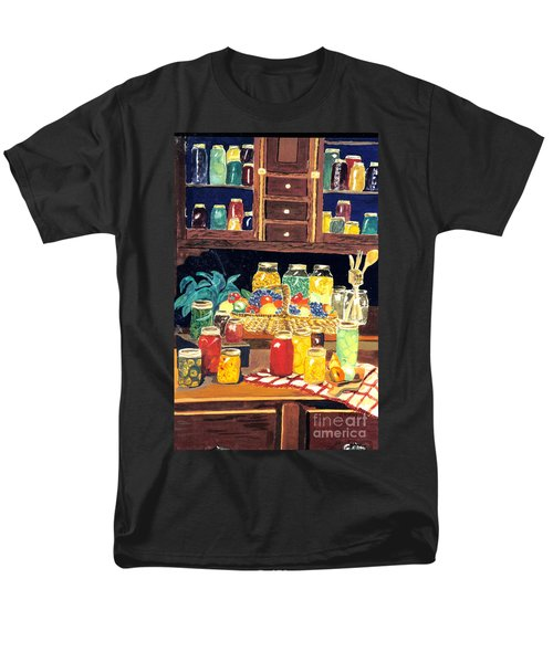 Men's T-Shirt  (Regular Fit) featuring the painting Granny's Cupboard by Julie Brugh Riffey