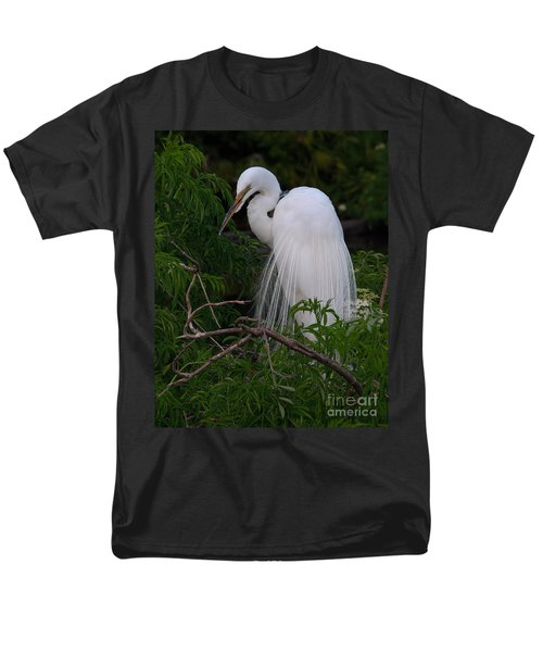Men's T-Shirt  (Regular Fit) featuring the photograph Great Egret Nesting by Art Whitton