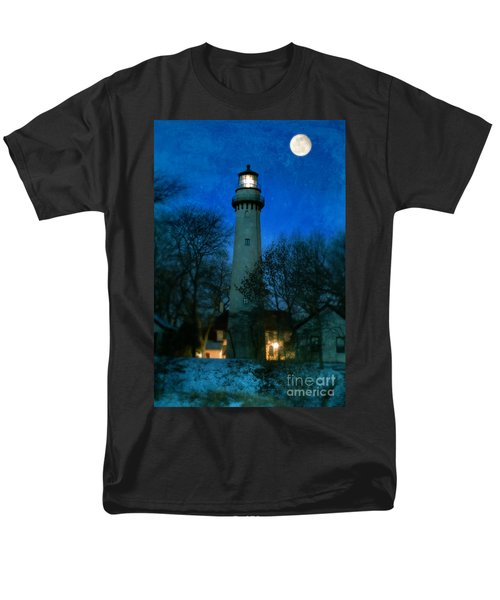 Grosse Point Lighthouse Before Dawn Men's T-Shirt  (Regular Fit) by Jill Battaglia