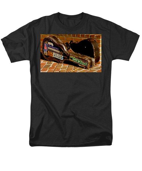 Guitar Case Messages Men's T-Shirt  (Regular Fit) by Lainie Wrightson