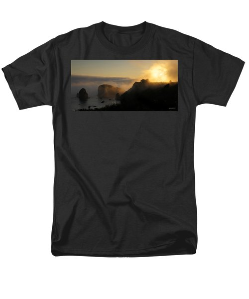 Harris Beach Sunset Panorama Men's T-Shirt  (Regular Fit) by Mick Anderson