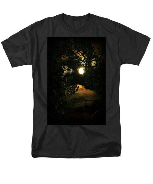Men's T-Shirt  (Regular Fit) featuring the photograph Haunting Moon by Jeanette C Landstrom