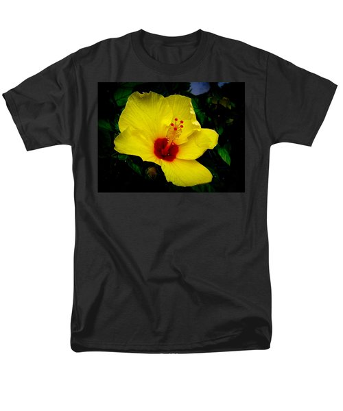 Hawaiian Yellow Hibiscus Men's T-Shirt  (Regular Fit) by Athena Mckinzie