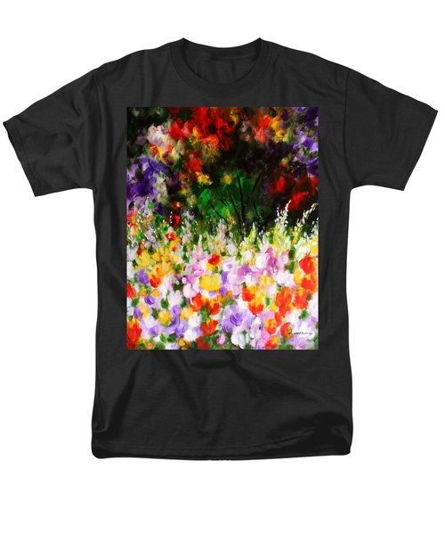 Men's T-Shirt  (Regular Fit) featuring the painting Heavenly Garden by Kume Bryant
