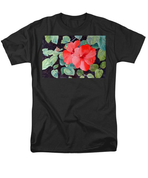 Men's T-Shirt  (Regular Fit) featuring the painting Hibiscus by Laurel Best