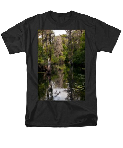 Men's T-Shirt  (Regular Fit) featuring the photograph Hillsborough River In March by Steven Sparks