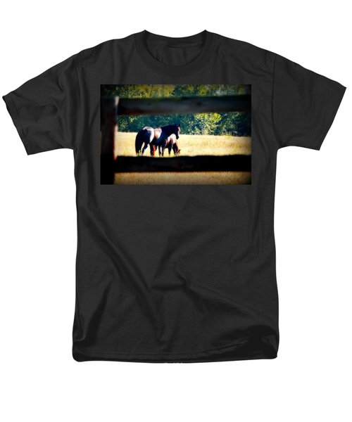 Men's T-Shirt  (Regular Fit) featuring the photograph Horse Photography by Peggy Franz