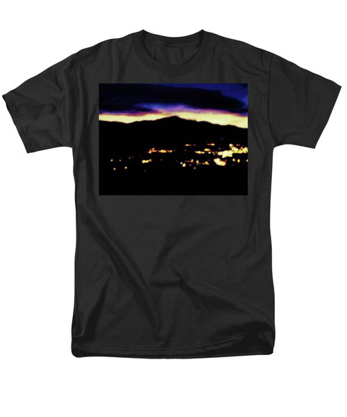 Men's T-Shirt  (Regular Fit) featuring the photograph Impressionistic Pikes Peak by Clarice  Lakota