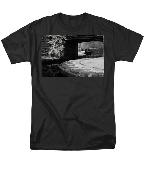 Men's T-Shirt  (Regular Fit) featuring the photograph Infrared At Llangollen Canal by Beverly Cash
