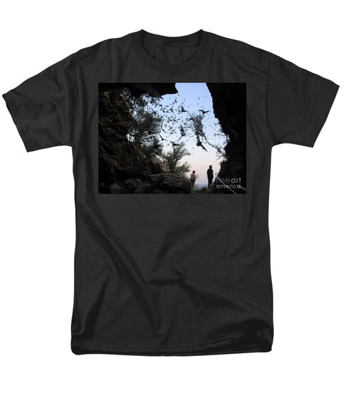 Inside The Bat Cave Men's T-Shirt  (Regular Fit) by Mark Robbins