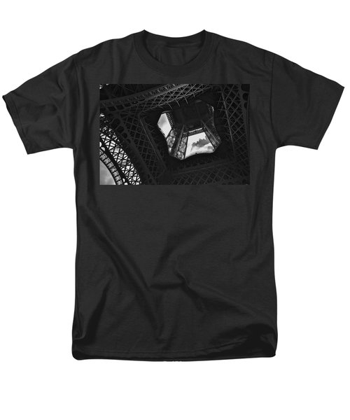 Men's T-Shirt  (Regular Fit) featuring the photograph Inside The Eiffel Tower by Eric Tressler