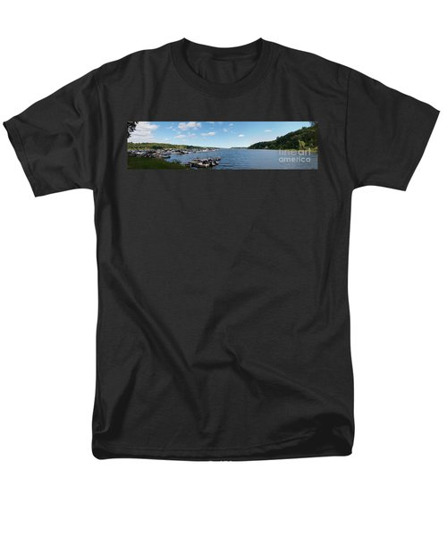 Men's T-Shirt  (Regular Fit) featuring the photograph Irondequoit Bay Panorama by William Norton