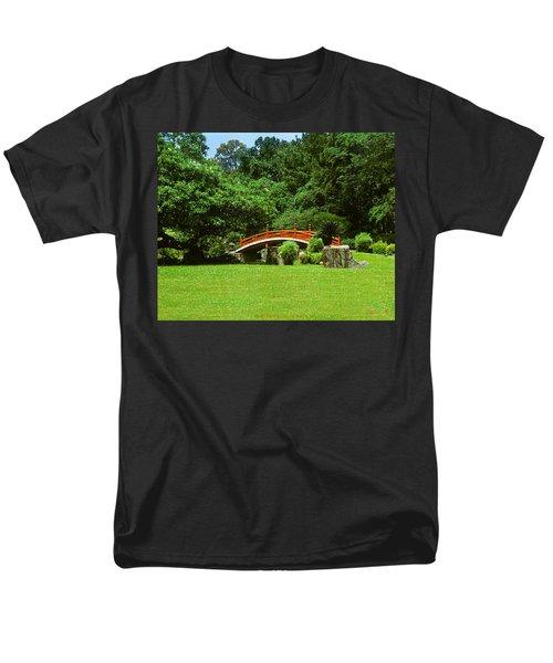 Men's T-Shirt  (Regular Fit) featuring the photograph Japanese Garden Bridge 21m by Gerry Gantt
