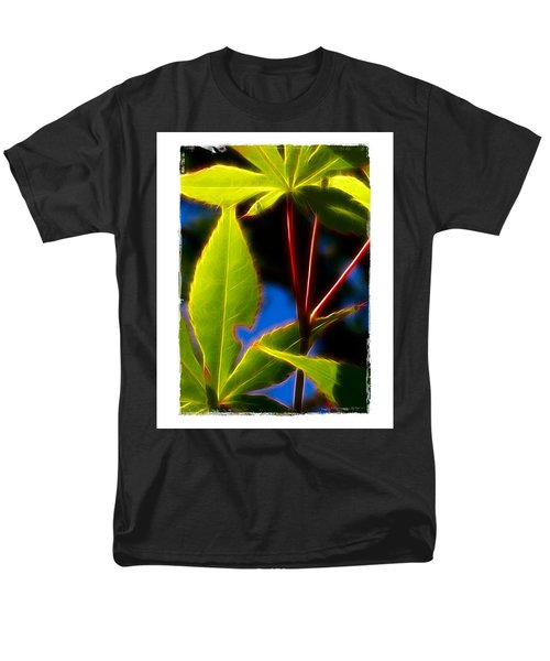 Japanese Maple Leaves Men's T-Shirt  (Regular Fit) by Judi Bagwell