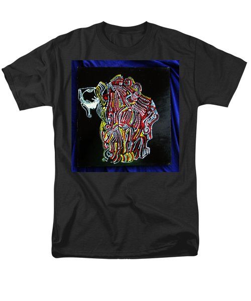 Men's T-Shirt  (Regular Fit) featuring the painting Japanese Opera - Noh by Gloria Ssali