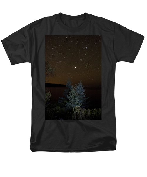 Men's T-Shirt  (Regular Fit) featuring the photograph Jupiter  Over Otter Point 2 by Brent L Ander