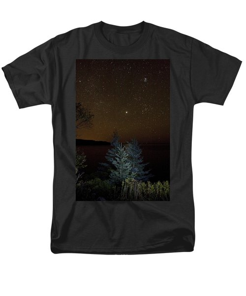 Men's T-Shirt  (Regular Fit) featuring the photograph Jupiter  Over Otter Point 3 by Brent L Ander