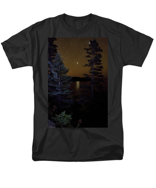 Men's T-Shirt  (Regular Fit) featuring the photograph Jupiter Rising Over Otter Point by Brent L Ander