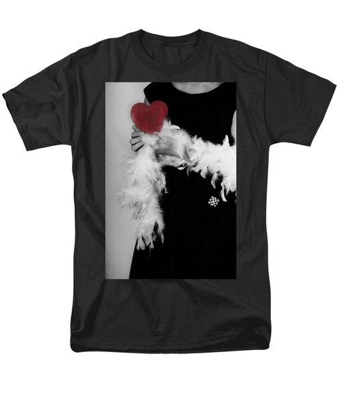 Lady With Heart Men's T-Shirt  (Regular Fit) by Joana Kruse
