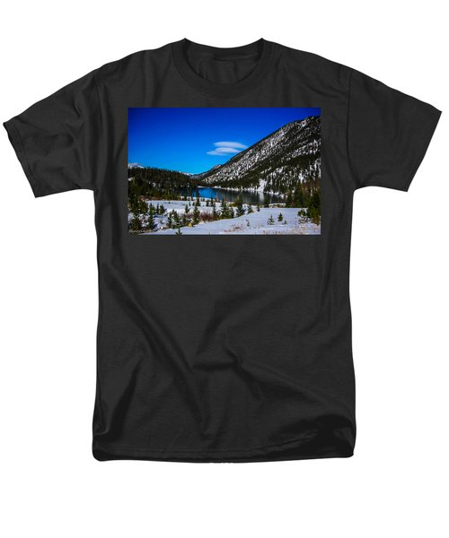 Men's T-Shirt  (Regular Fit) featuring the photograph Lake In The Mountains by Shannon Harrington