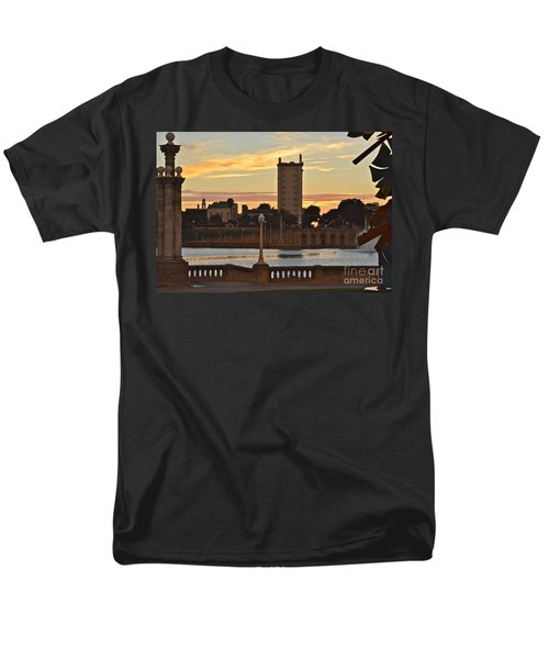 Men's T-Shirt  (Regular Fit) featuring the photograph Lake Mirror Sunset by Carol  Bradley